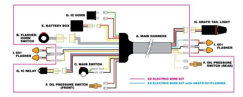 MOTO LED EZ Electric Wire Kit